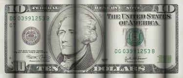 Dez dólares de Bill Imagens de Stock Royalty Free