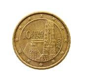 Dez euro- centavos Imagem de Stock Royalty Free