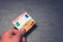 Dez euro disponivel Imagens de Stock