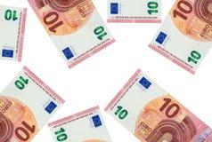 Dez euro em um fundo branco Imagem de Stock Royalty Free