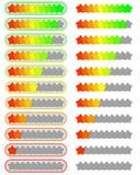 Dez grupos do sistema de avaliação da estrela do nível Ilustração Stock