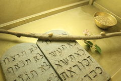 Dez mandamentos dentro do modelo da arca em Israel Fotografia de Stock Royalty Free