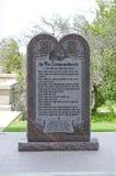 Dez mandamentos em terras do estado de Oklahoma Imagem de Stock