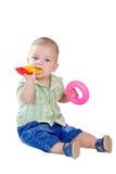 Dez meses de bebê Fotografia de Stock