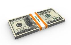 Dez mil dólares Fotografia de Stock Royalty Free