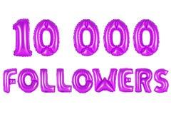 Dez mil seguidores, cor roxa imagem de stock