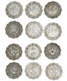 Dez moedas de Paise da Índia Foto de Stock