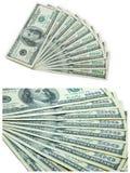 Dez notas de banco de 100 dólares Imagem de Stock