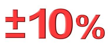 Dez por cento foto de stock