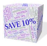 Dez por cento fora da oferta e do retalho dos meios 10% Foto de Stock Royalty Free