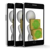 Dez por cento fora preço da mostra 10 do telefone do mais baixo Imagens de Stock Royalty Free