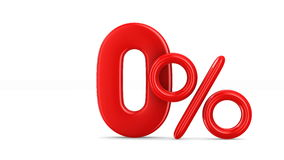 Dez por cento no fundo branco 3d isolados rendem ilustração stock