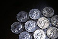 Dez quartos americanos Fotografia de Stock Royalty Free