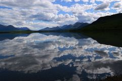 Yukon, Canada: Dezadeash Lake Reflection Stock Photo