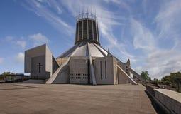 De Kathedraal van Liverpool RC Stock Afbeeldingen