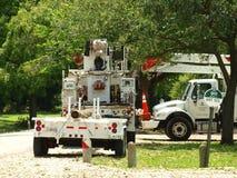 Deze Bemanning van Alabama was Één van 11 Staten die kwamen helpen stock foto