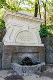 Deze die fontein is de Griekse Savopulo-Apostel wordt geïnstalleerd in 1881 S Stock Afbeeldingen