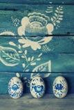 Deze geverfte eieren - een teken van onderbreking zijn snel na Geleend… Royalty-vrije Stock Foto