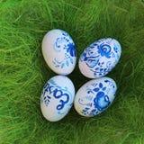 Deze geverfte eieren - een teken van onderbreking zijn snel na Geleend… Stock Afbeeldingen