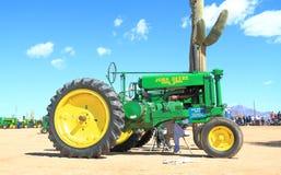 Antieke Amerikaanse tractor: John Deere 1940 G Stock Foto
