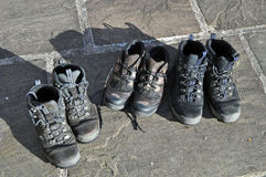 Deze laarzen worden gemaakt voor het lopen Stock Fotografie