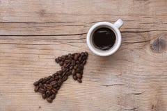 Deze manier aan de koffie? Royalty-vrije Stock Afbeeldingen