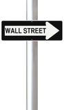 Deze Manier aan Wall Street Royalty-vrije Stock Foto's