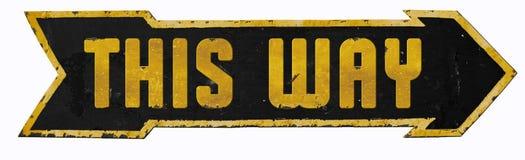 Deze van het Teken Uitstekende Grunge van de Uitwegstraat de Pijluitgang stock afbeeldingen