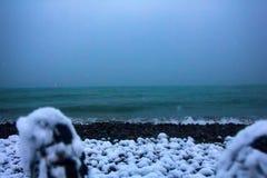 Deze voeten bereikten Colchis aan Oostelijke kust van Euxine (de Zwarte Zee) stock foto