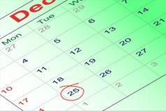 Dezember 2012-Kalender Lizenzfreies Stockfoto