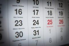 24. Dezember Lizenzfreie Stockfotografie