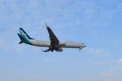 25. DEZEMBER 2016 AIRPLAIN IN KUALA LUMPUR Lizenzfreies Stockbild