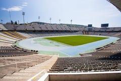 27 Dezember 2016 Barcelona von Spanien: Ansicht vom Olympiastadion in Barcelona von Spanien Stockbilder