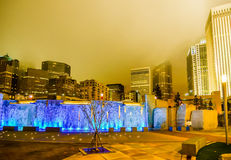 27. Dezember 2014 Charlotte, nc, Skyline USA - Charlotte nahe r Lizenzfreie Stockfotografie