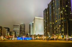 27. Dezember 2014 Charlotte, nc, Skyline USA - Charlotte nahe r Lizenzfreie Stockfotos