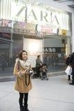26. Dezember ist der beschäftigtste Einkaufstag des Jahres Stockfotos