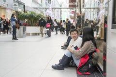 26. Dezember ist der beschäftigtste Einkaufstag des Jahres Lizenzfreies Stockbild