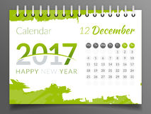 Dezember 2017 Kalender 2017 Vektor Abbildung