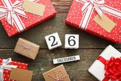 26. Dezember-Konzept Lizenzfreie Stockfotografie
