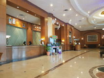 30. Dezember 2016 Kuala Lumpur Die Hotellobby des Gipfel-Hotels Subang USJ stockfotos