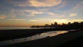 Dezember-Sonnenuntergang Capitola Lizenzfreie Stockfotografie