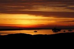 Dezember-Sonnenuntergang nahe Half Moon Bay, Californa Lizenzfreie Stockbilder