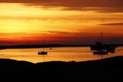 Dezember-Sonnenuntergang nahe Half Moon Bay, Californa Stockfoto