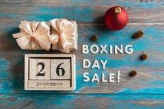 26. Dezember-Verkauf Lizenzfreie Stockfotos