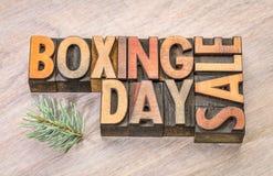 26. Dezember-Verkauf unterzeichnen herein hölzerne Art Stockbilder