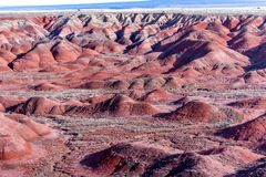 21. Dezember 2014 - versteinerter Wald, AZ, USA Stockbilder
