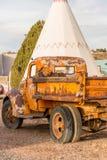21. Dezember 2014 - Wigwam-Hotel, Holbrook, AZ, USA: Klassiker Stockfotografie