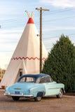 21. Dezember 2014 - Wigwam-Hotel, Holbrook, AZ, USA: Tipi hote Stockbilder