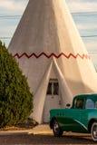 21. Dezember 2014 - Wigwam-Hotel, Holbrook, AZ, USA: Tipi hote Lizenzfreie Stockfotos