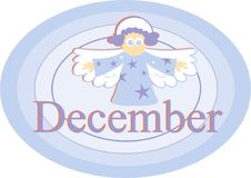 Dezembro ilustração royalty free